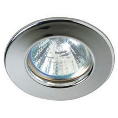 Picture of Fixed Die-Cast Aluminium Downlight (White & Satin Chrome)