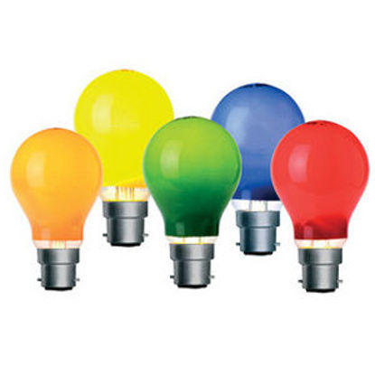 Picture of Coloured 40W 240V Mains Voltage GLS Lamps (Sold as 2)