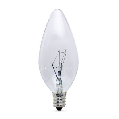 Picture of E12 240V 25W Clear Candle Globes (25 Pack)