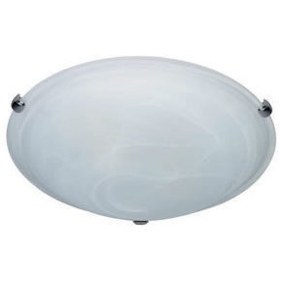 Picture of Large Slimline White Alabaster Glass Oyster (Suits 32W Circular Fluorescent Lamp, 410mm